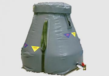 CORETECH-Chemical-Waste-Containment-Bladder-Inside